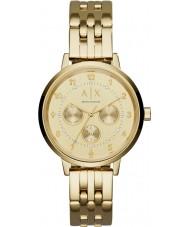 Armani Exchange AX5377 Ladies Payton Gold Steel Bracelet Watch