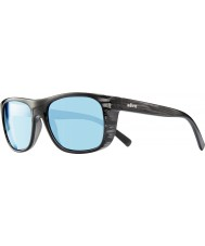 Revo RE1020 Lukee Black Woodgrain - Blue Water Polarized Sunglasses