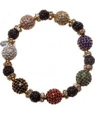 Nevine Crystals CC106 Tutti Fruity Crystal Beads Stretch Bracelet