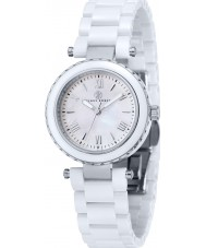 Klaus Kobec KK-10006-01 Ladies Venus Steel and White Ceramic Watch