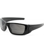 Oakley OO9096-01 Fuel Cell Polished Black - Warm Grey Sunglasses