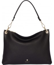 Modalu MH6150-BLACK Ladies Lottie Black Flat Shoulder Bag