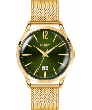 Henry London HL41-JM-0146 Mens Chiswick Moss Hamilton Gold Plated Bracelet Watch