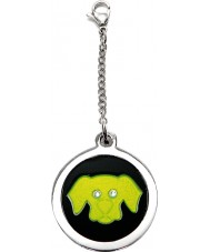 I Puppies PF-006-G Dog Steel and Green Tag For Collar Medallion