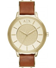 Armani Exchange AX5314 Ladies Urban Light Brown Leather Strap Watch