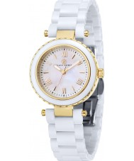 Klaus Kobec KK-10006-02 Ladies Venus Gold and White Ceramic Watch