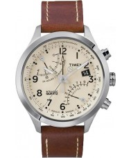 Timex T2N932 Mens Cream Brown Fly-Back Chronograph Watch