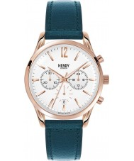 Henry London HL39-CS-0144 Ladies Stratford White Mallard Green Chronograph Watch