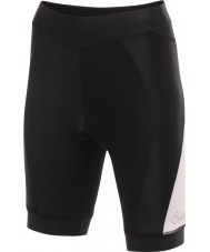 Dare2b DWJ300-8K408L Ladies Gratify Cycle Black White Shorts - Size XXS (8)