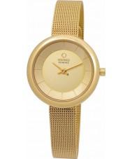 Obaku V146LXGGMG Ladies All Gold Plated Mesh Bracelet Watch