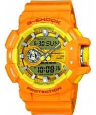 Casio GA-400A-9AER Mens G-Shock World Time Yellow Combi Watch
