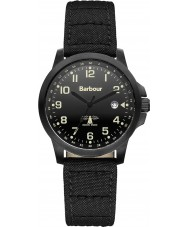 Barbour BB020BKBK Mens Swale Black Canvas Strap Watch