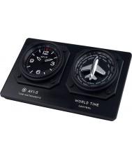AVI-8 AV-CLOCK-01 Mens AVI-8 GMT Black Clock