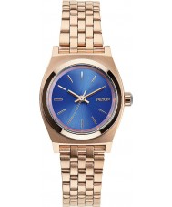 Nixon A399-1748 Ladies Small Time Teller Rose Gold Cobalt Watch