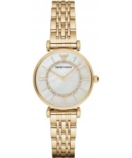 Emporio Armani AR1907 Ladies Gold Plated Link Bracelet Dress Watch
