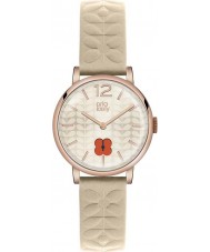 Orla Kiely OK2010 Ladies Frankie Nude Leather Strap Watch