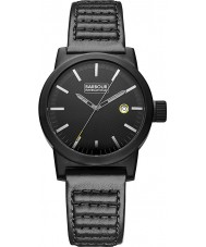 Barbour BB024BKBK Mens Halsted Black Leather Strap Watch