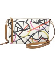 Fossil ZB6529997 Ladies Sydney Bike Print Top Zip Cross Body Bag
