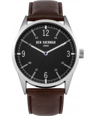 Ben Sherman WB051BR Mens Brown Leather Strap Watch