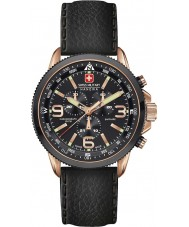Swiss Military 6-4224-09-007 Mens Arrow Chrono Rose Gold Plated Black Watch