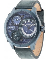 Police 14638XSUBL-03 Mens Bushmaster Blue Leather Strap Watch