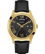 Guess W0792G4 Mens Metropolitan Black Leather Strap Watch
