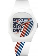 Superdry SYG181W Urban Retro White Silicone Strap Watch