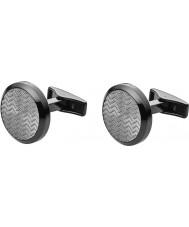 Emporio Armani EGS2254060 Mens Deco Gunmetal Steel Cufflinks