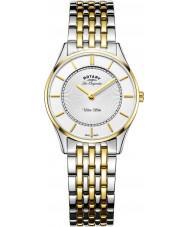 Rotary LB90801-41 Ladies Ultra Slim Two Tone Steel Bracelet Watch
