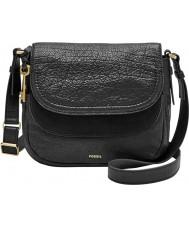 Fossil ZB7100001 Ladies Peyton Black Double Flap Bag