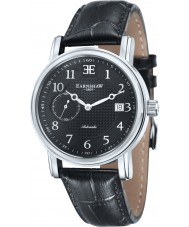 Thomas Earnshaw ES-8027-01 Mens Fitzroy Black Leather Automatic Watch