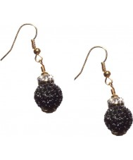 Nevine Crystals CCS101 Black Crystal Earrings