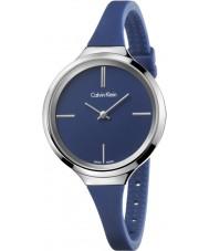 Calvin Klein K4U231VN Ladies Lively Blue Silicone Strap Watch