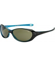 Cebe Koala (Age 7-10) Shiny Black Crystal Blue Sunglasses