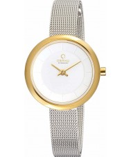 Obaku V146LXGIMC Ladies Silver Tone Mesh Bracelet Watch