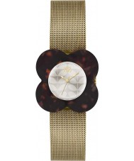 Orla Kiely OK4030 Ladies Poppy Tortoiseshell Case Gold Mesh Bracelet Watch