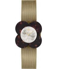 Orla Kiely OK4030 Ladies Poppy Tortoiseshell Case Gold Mesh Bracelet Watch