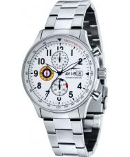 AVI-8 AV-4011-11 Mens Hawker Hurricane Silver Steel Chronograph Watch