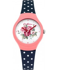Cath Kidston CKL024PU Ladies Spray Flowers Navy with Polka Dot Watch