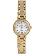 Krug-Baumen 5116DL Charleston 4 Diamond White Dial Gold Strap