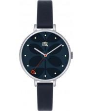 Orla Kiely OK2011 Ladies Ivy Navy Leather Strap Watch