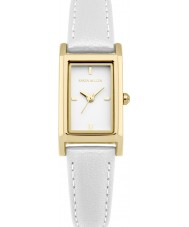 Karen Millen KM114WG Ladies White Leather Strap Watch