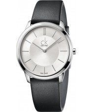 Calvin Klein K3M211C6 Mens Minimal Black Leather Strap Watch