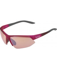 Bolle Breakaway Shiny Pink Grey Modulator Rose Gun Sunglasses