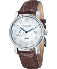 Thomas Earnshaw ES-8027-02 Mens Fitzroy Brown Leather Automatic Watch