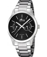 Lotus 15954-3 Mens Black Silver Multifunction Watch