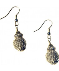 Nevine Crystals CCS102 Silver Crystal Earrings