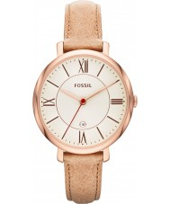Fossil ES3487 Ladies Jacqueline Sand Leather Strap Watch