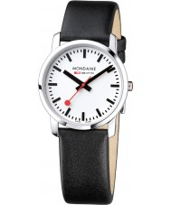 Mondaine A400-30351-11SBB Simply Elegant Black Leather Strap Watch