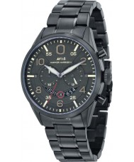 AVI-8 AV-4031-14 Mens Hawker Harrier II Black IP Steel Chronograph Watch